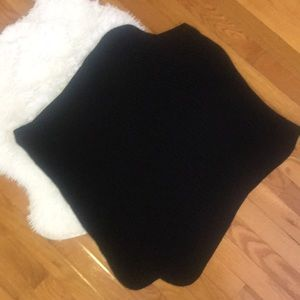 Black knit sweater poncho